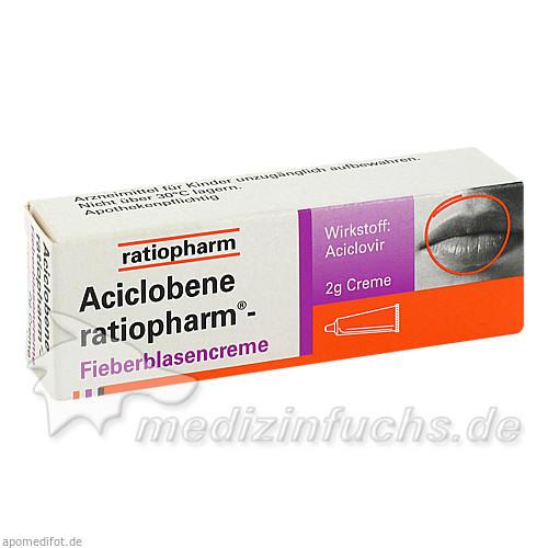 Aciclobene ratiopharm® Fieberblasencreme, 2 g, ratiopharm Arzneimittel Vertriebs-GmbH