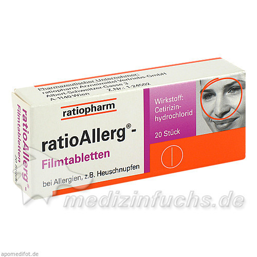 ratioAllerg® Filmtabletten, 20 St, Ratiopharm Arzneimittel GmbH