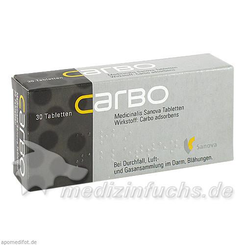 CARBO Medicinalis Sanova Tabletten, 30 St, Sanova Pharma GesmbH
