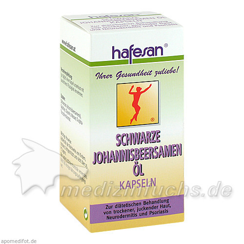 hafesan® Schwarze Johannisbeersamenöl 500 mg, 80 St, hafesan HandelsGesmbH