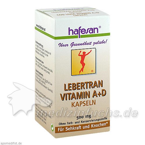 hafesan® Lebertran Vitamin A+D Kapseln, 80 St, hafesan HandelsGesmbH