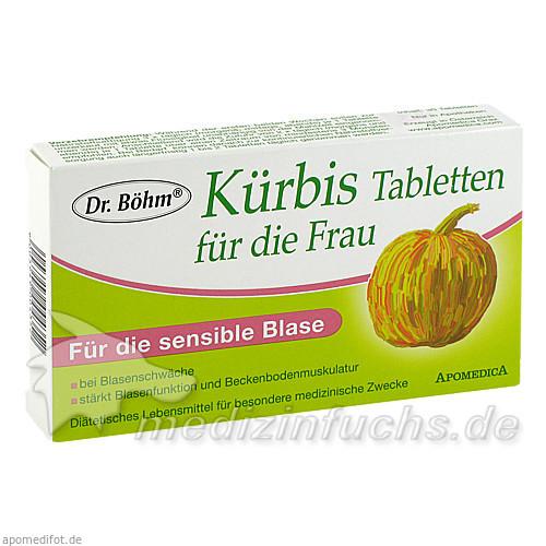 Dr. Böhm® Kürbis Tabletten für die Frau, 30 St, Apomedica Pharmazeutische Produkte GmbH