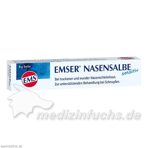 Emser Nasensalbe sensitiv, 8 g, SIEMENS & CO – Heilwasser und Quellenprodukte des Staatsbades Bad Ems GmbH & Co.