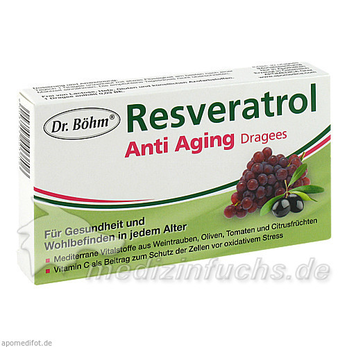 Dr. Böhm® Resveratrol Anti Aging Dragees, 30 St, Apomedica Pharmazeutische Produkte GmbH