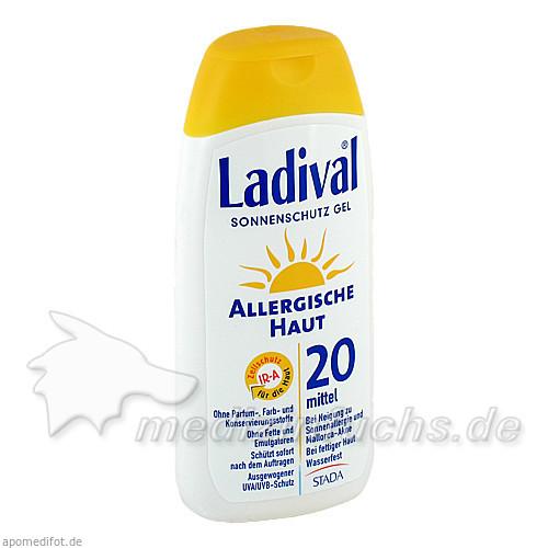 Ladival allergische Haut Sonnenschutz Gel LSF 20, 200 ml,