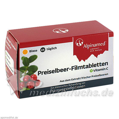 Alpinamed® Preiselbeer-Filmtabletten, 60 ST, Gebro Pharma GmbH