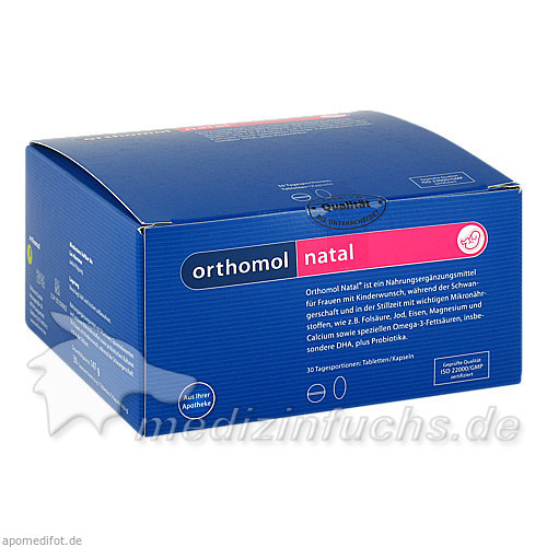 Orthomol Natal Tbl+kps, 30 Stk.,