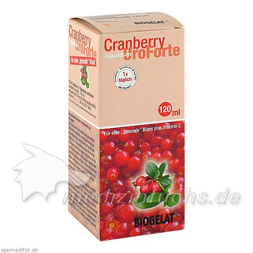 BIOGELAT® Cranberry Uroforte Liquid, 120 ml, Kwizda Pharma GmbH