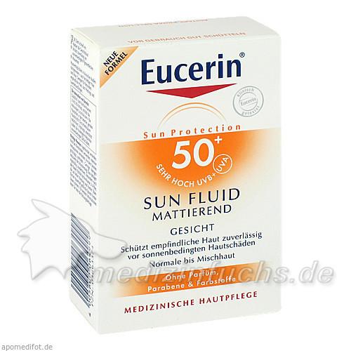 Eucerin Sun Fluid Gesicht mattierend LSF50+, 50 ml, BEIERSDORF G M B H