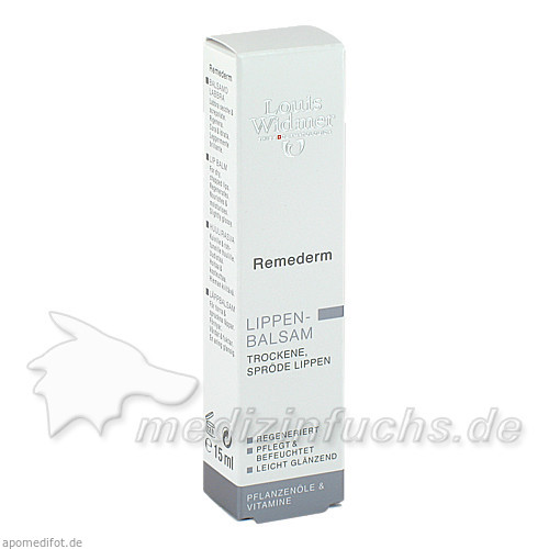 Louis Widmer Remederm Lippen Balsam, 15 ml,