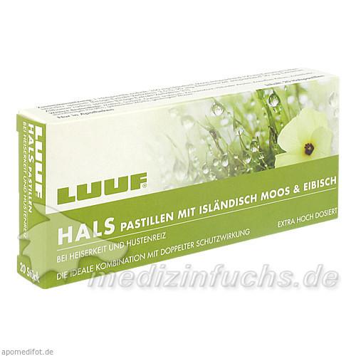 LUUF® Halspastillen mit Isländisch Moos und Eibisch - Holunder, 20 St, Apomedica Pharmazeutische Produkte GmbH