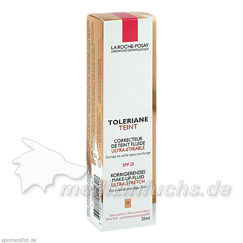 La Roche Toleriane Teint: Korrigierendes Make-up Fluid - Beige Sable, 30 ml, LA ROCHE POSAY