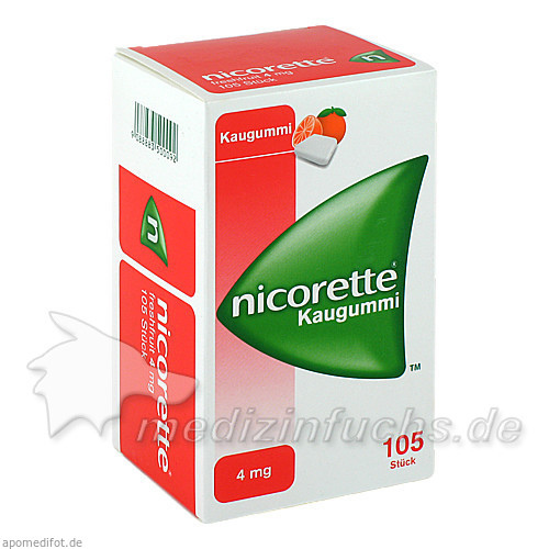 nicorette® Kaugummi freshfruit 4 mg, 105 St, Johnson & Johnson GmbH