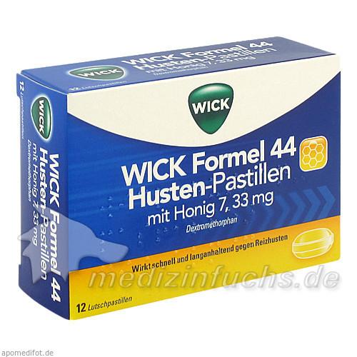 WICK Formel 44 Husten-Pastillen 7,33 mg mit Honig, 12 St, ratiopharm Arzneimittel Vertriebs-GmbH