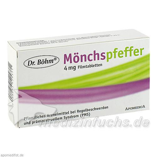 Dr. Böhm® Mönchspfeffer 4 mg Filmtabletten, 60 St, Apomedica Pharmazeutische Produkte GmbH
