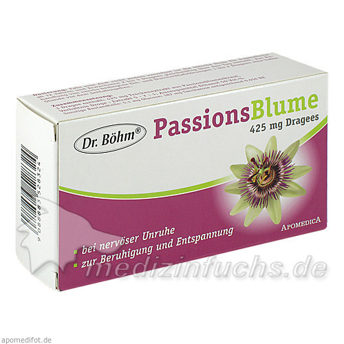 Dr. Böhm® Passionsblume 425 mg Dragees, 60 St, Apomedica Pharmazeutische Produkte GmbH