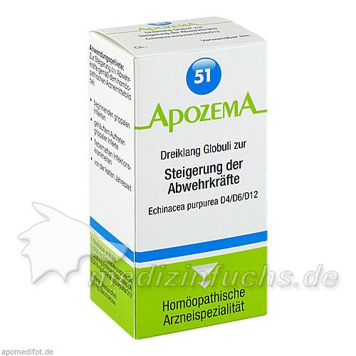 APOZEMA® Nr. 51 Dreiklang Globuli zur Steigerung der Abwehrkräfte, 15 g, Apomedica Pharmazeutische Produkte GmbH