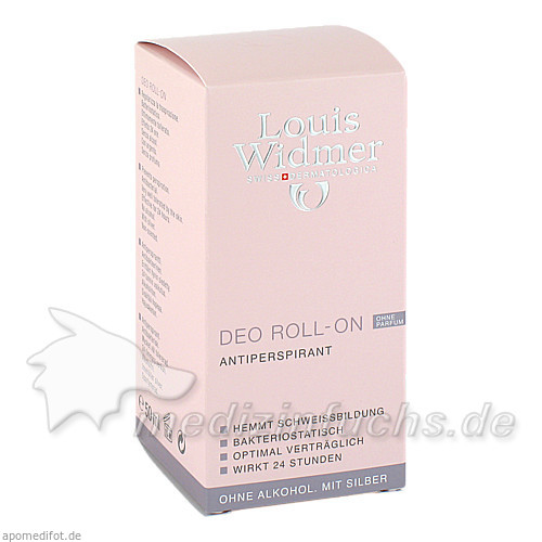 Widmer Deo Roll-on Antiperspirant ohne Parfum, 50 ml, WIDMER LOUIS GES M B H