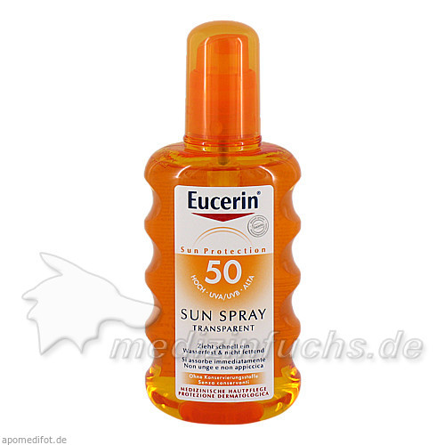 Eucerin Sun Spray Transparent LSF 50, 200 ml,
