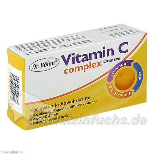 Dr. Böhm® Vitamin C complex Dragees, 60 St, Apomedica Pharmazeutische Produkte GmbH
