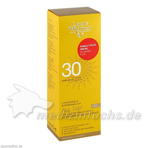 Louis Widmer Allday 30 Sonnenmilch, 200 ml,