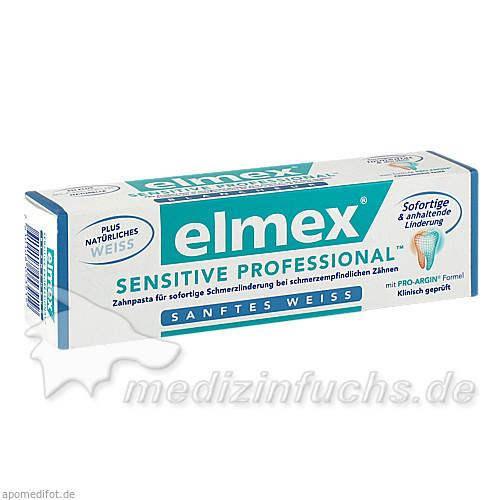 Elmex sensitive professional Sanftes Weiß Zahnpasta, 75 ml,