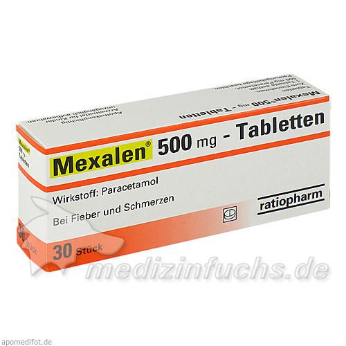 Mexalen® 500 mg-Tabletten, 30 St, ratiopharm Arzneimittel Vertriebs-GmbH