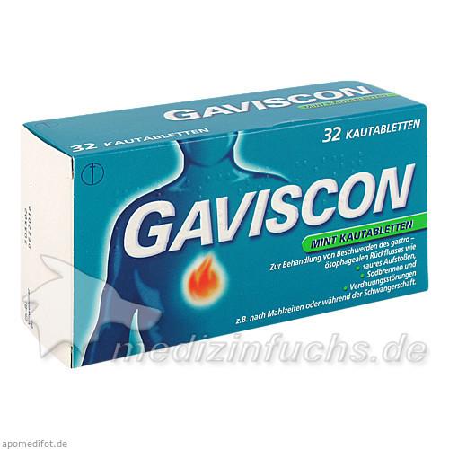 GAVISCON Mint Kautabletten, 32 St, Reckitt Benckiser Austria GmbH