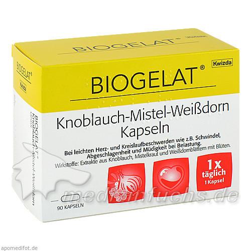BIOGELAT® Knoblauch-Mistel-Weißdorn, 90 St, Kwizda Pharma GmbH