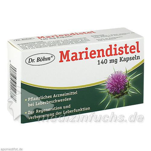 Dr. Böhm® Mariendistel 140 mg Kapseln, 60 St, Apomedica Pharmazeutische Produkte GmbH