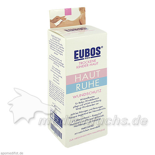 Eubos Trockene Kinder-Haut Haut Ruhe Wundschutzceme, 75 ml,