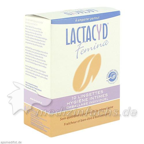 Lactacyd Intimpflegetücher, 10 Stk.,