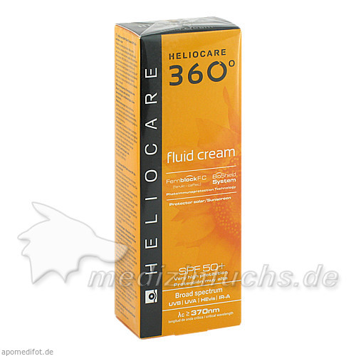 Heliocare 360° Fluid Cream SPF 50+, 50 ml,