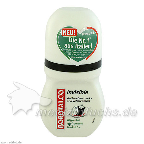 Borotalco Roll-on Invisible, 50 ml,